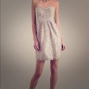 Jenny Yoo Hudson Dress in Sandstone size 16